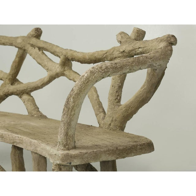 Late 19th Century Antique French Faux Bois or Concrete Bench Attributed to Edouard Redont For Sale - Image 5 of 10