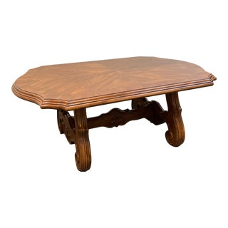 Bernhardt Furniture French Provincial Trestle Coffee Table For Sale