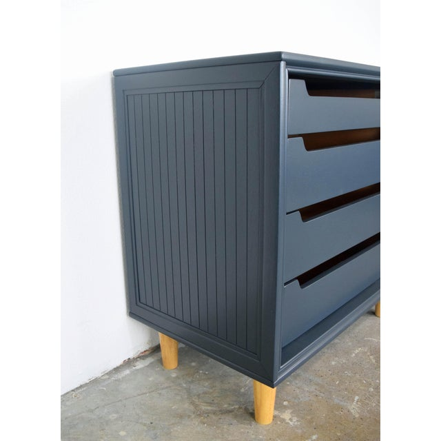 Mastercraft Mid Century Modern Mismatch Black Large Nightstands - a Pair For Sale - Image 4 of 13
