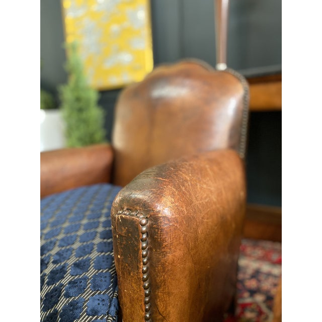 1930s 1930's Vintage Art Deco Leather Club Chairs - A Pair For Sale - Image 5 of 10