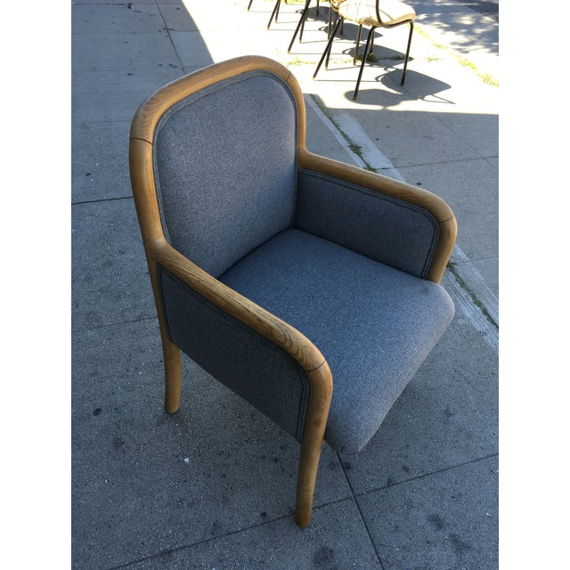 1980s Vintage Sculptural Oak Frame Arm Chairs - a Pair For Sale In Los Angeles - Image 6 of 11