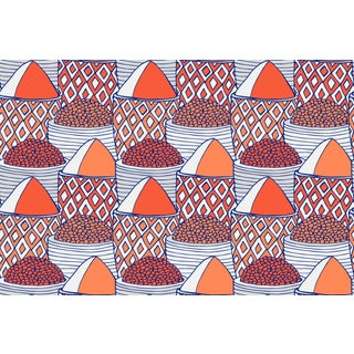 Spice Market Firenze Linen Cotton Fabric, 3 Yards For Sale