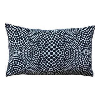 Optical Black on White Lumbar Pillow For Sale