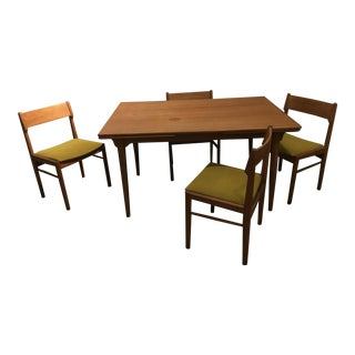 Mid-Century Danish Modern Dining Table & Chairs