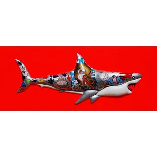 "Enrico Cecotto ""Supershark"" Contemporary Sculptural Painting For Sale"
