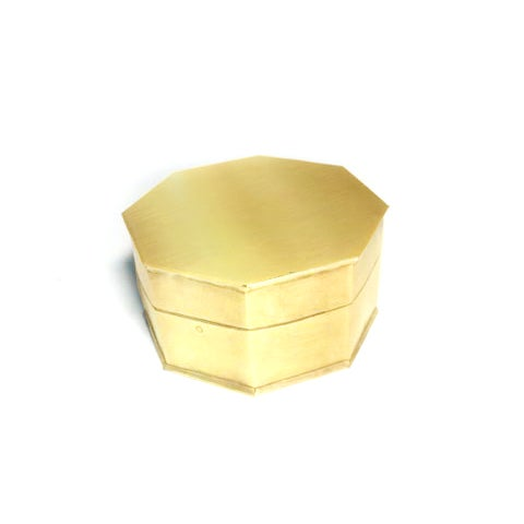Vintage Brass Octagonal Box - Image 2 of 3