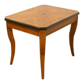 20th Century Traditional Lane Furniture Bookmatched End Table For Sale