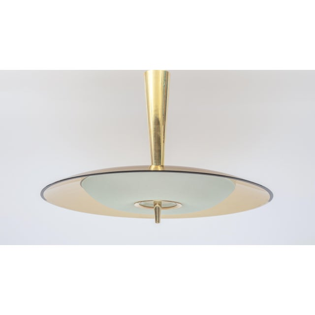 Metal 1950s Vintage Max Ingrand for Fontana Art Chandelier For Sale - Image 7 of 7