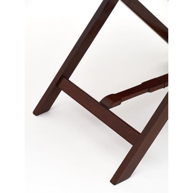 Gold English Campaign Style Mahogany Tray Table For Sale - Image 8 of 10