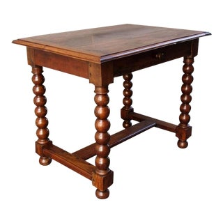18th Century French Provincial Walnut Trestle Work Table For Sale
