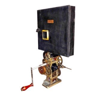 1906 Power's Cameragraph 35MM Hand Crank Movie Projector Artifact Display Sculpture For Sale