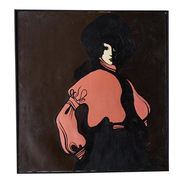 60s Mod Stylized Portrait of a Woman For Sale