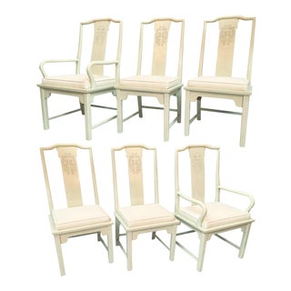 Century Furniture Chin Hua Asian Chinoiserie Dining Chairs - Set of 6 For Sale