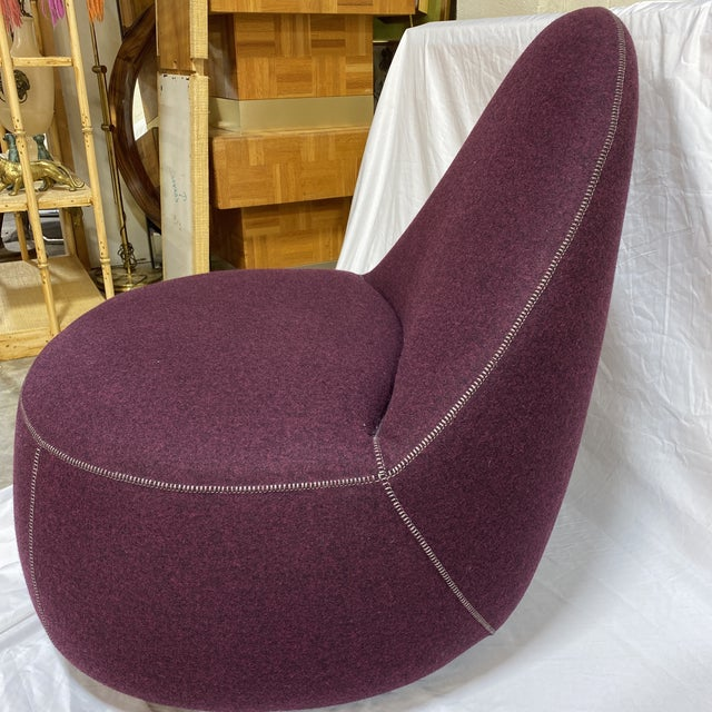 Bernhardt Contemporary Plum Club Chairs - Pair For Sale - Image 12 of 13