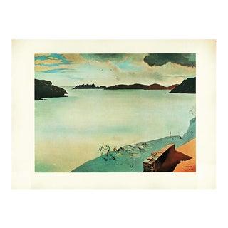 """1957 Salvador Dalí """"Paysage De Port-Lligat"""" Large Period Lithograph For Sale"""