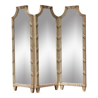 Free Shipping!!! Vintage Large Mirrored Pagoda Screen / Room Divider / Would Be Cool Headboard For Sale