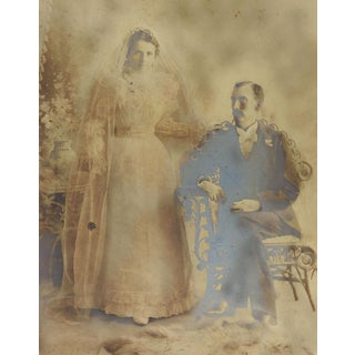 Antique Victorian Wedding Portrait Photograph For Sale