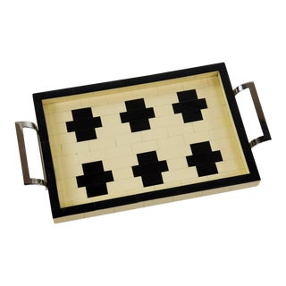 Cross Design Tiled Serving Tray