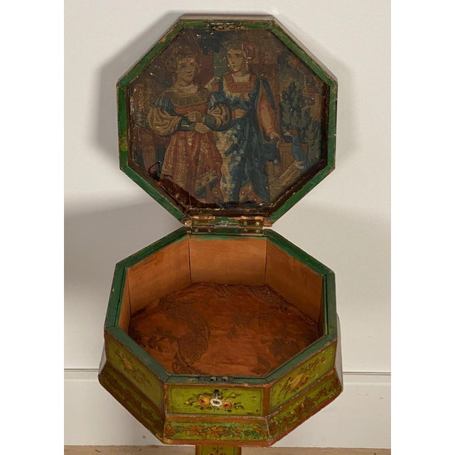 English Regency Painted Sewing Box, Circa 1810 For Sale - Image 4 of 8