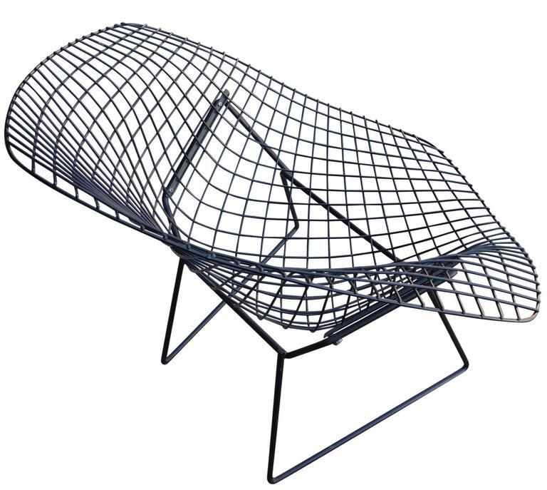 Mid Century Harry Bertoia Diamond Chair And Ottoman For Knoll   Image 4 Of 9