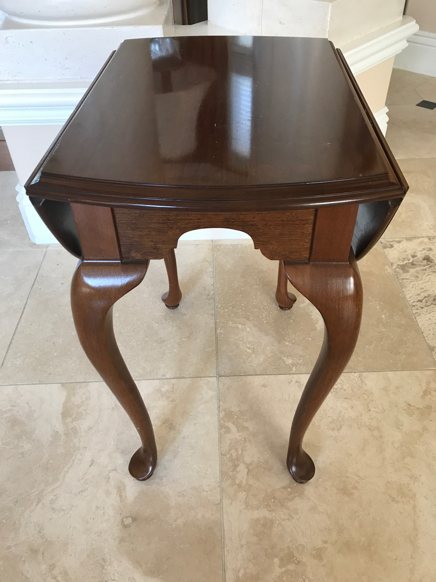 Ethan Allen Drop Leaf Solid Cherry Wood Accent Table Chairish