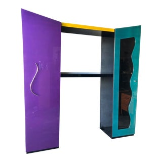 1980s Postmodern Wall System Unit in the Memphis Group Style For Sale