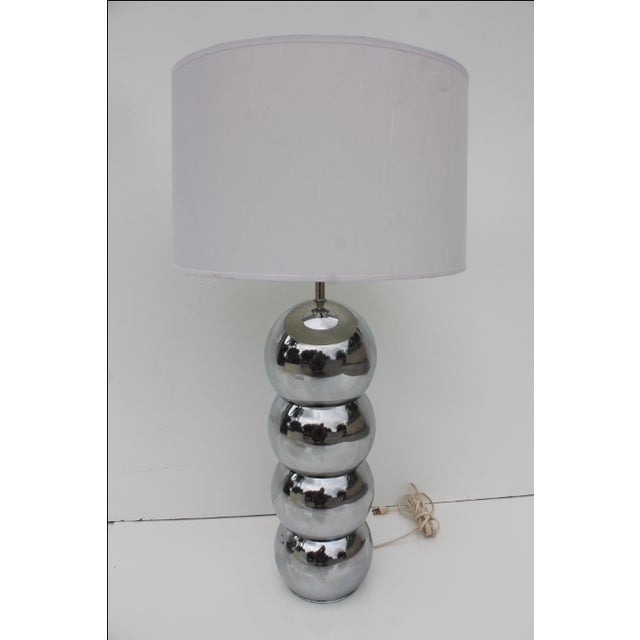 George Kovacs Stacking Chrome Ball Lamp For Sale - Image 7 of 7