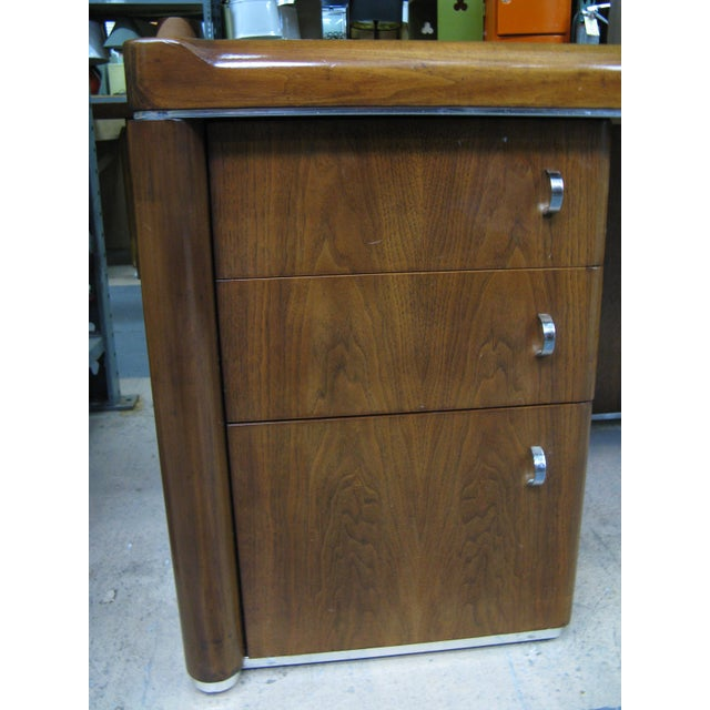 Art Deco Walnut Desk For Sale - Image 4 of 9