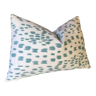 Brunschwig Fils 'Aqua Les Touches' Pillow Cover For Sale