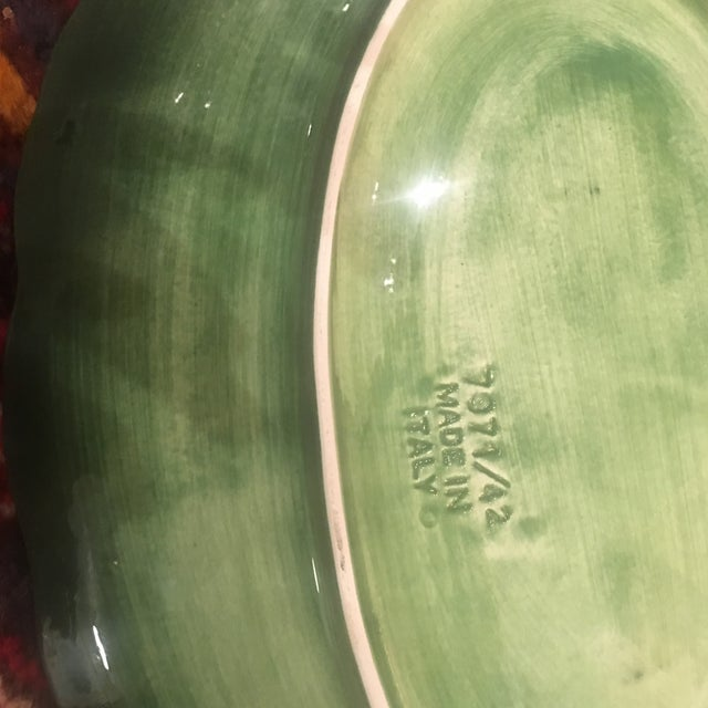 Ceramic Vintage Majolica Leaf Ware Platter For Sale - Image 7 of 9