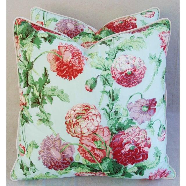 Designer Brunschwig & Fils Poppies Pillows - Pair - Image 2 of 9