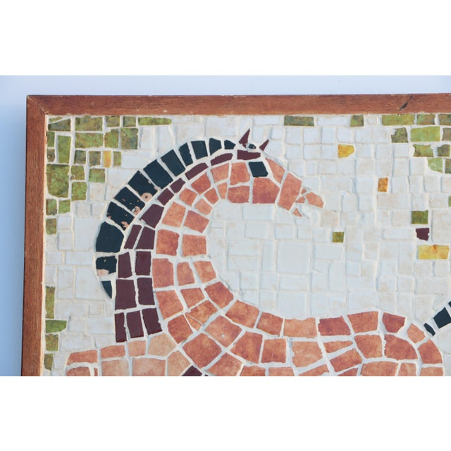 Mid-century tile mosaic in the style of Evelyn Ackerman. Made of hundreds of individually hand-broken tile pieces & framed...