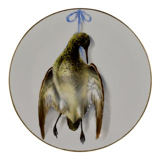 19th C. Bodley Staffordshire Dead Game Plate, the Snipe For Sale