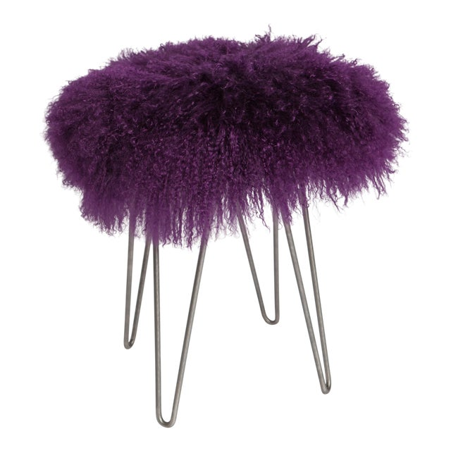 Curly Purple Hairpin Stool For Sale