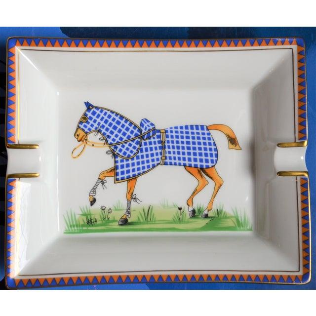 1970s 1970s Hermes Porcelain Equestrian Ashtray For Sale - Image 5 of 10