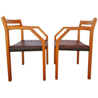 Niels Otto Moller Teak Armchairs - A Pair For Sale