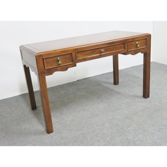 Mid 20th Century French Country Henredon Oak Desk For Sale - Image 5 of 9