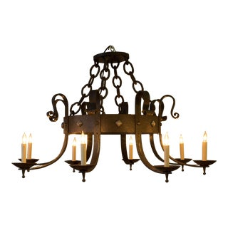 Large Iron Chandelier For Sale