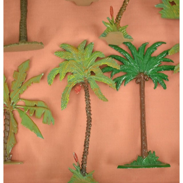Mid 20th Century Vintage Mid-Century Hand-Painted Palm Trees - Set of 10 For Sale - Image 5 of 11