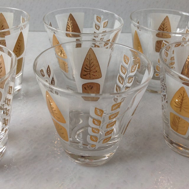 Fred Press Mid-Century Gold Tree Shot Glasses- S/8 - Image 10 of 11