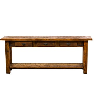 Rustic 3- Drawer Reclaimed Wood Console Table