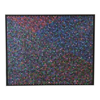 "Contemporary Oil and Bubble Wrap Painting ""Go With the Flow"" by Garcia Mar For Sale"