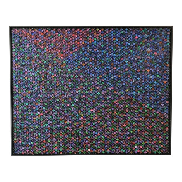 """Contemporary Oil and Bubble Wrap Painting """"Go With the Flow"""" by Garcia Mar For Sale"""