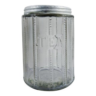 Antique Glass Tea Jar