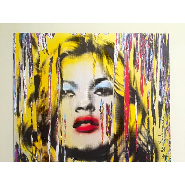 """This Mr. Brainwash """" Kate Moss """" rare authentic lithograph print iconic Pop Art poster is a very special and unique piece..."""