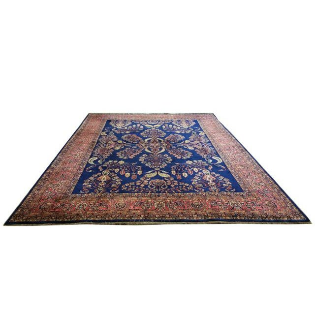 Infuse a touch of beauty to your home with this beautiful handmade wool traditional rug.