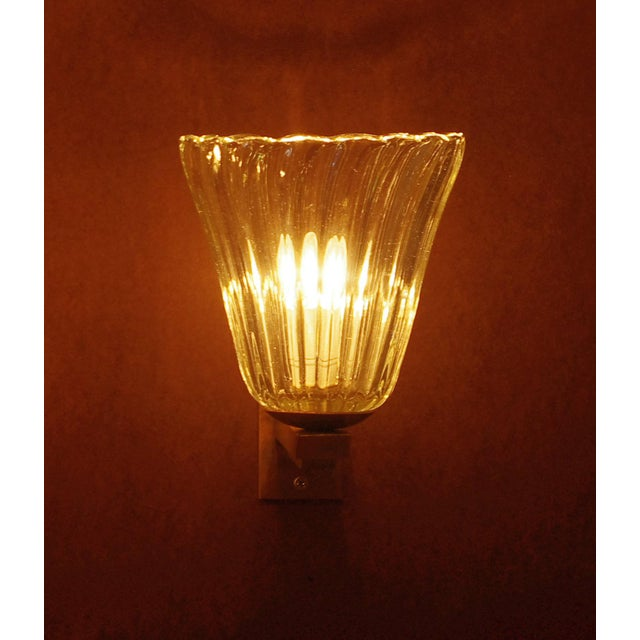Italian Vintage Mid Century Single Bell Sconce by Barovier E Toso Final Clearance Sale For Sale - Image 3 of 10