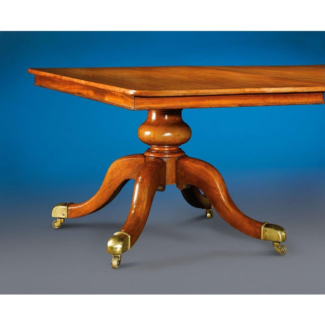 English Traditional Incredible English Mahogany Seven-Pedestal Dining Table For Sale - Image 3 of 5