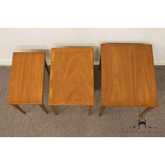 Ash Heritage Solid Ash Italian Neoclassical Nesting End Tables - Set of 3 For Sale - Image 7 of 12