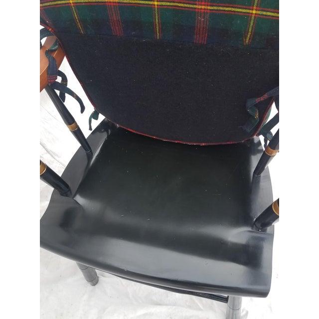 Ebony Harvard University Veritas Nichols & Stone Captain's Chair For Sale - Image 8 of 12